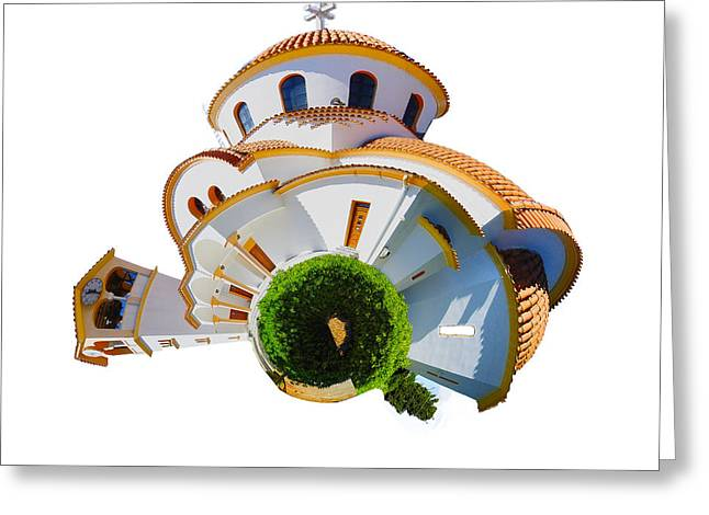 Greek Orthodox Church Greeting Card by Stephen Smith
