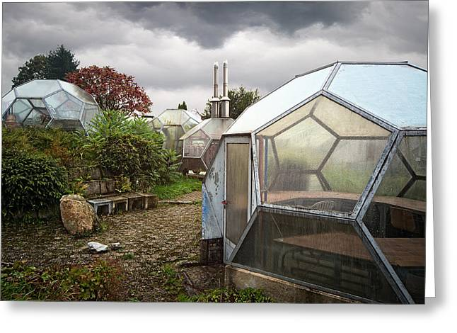 Abandoned Places Greeting Cards - Green House From Out Of Space - Urban Exploration Greeting Card by Dirk Ercken