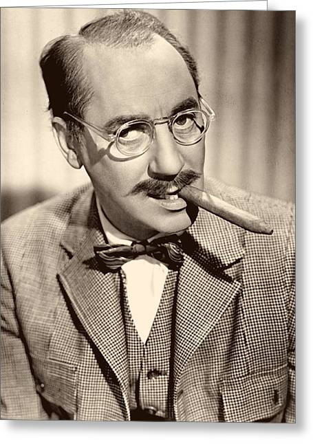 Comedian Greeting Cards - Groucho Marx 1940s Greeting Card by Abc
