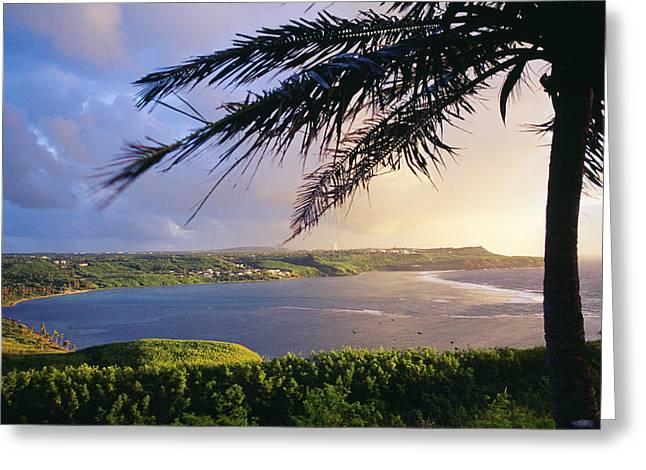 Guam, Pago Bay Greeting Card by Greg Vaughn - Printscapes