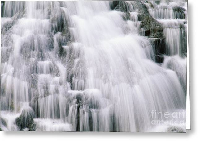 Mountainside Art Greeting Cards - Guam, Talofofo Falls Greeting Card by Greg Vaughn - Printscapes