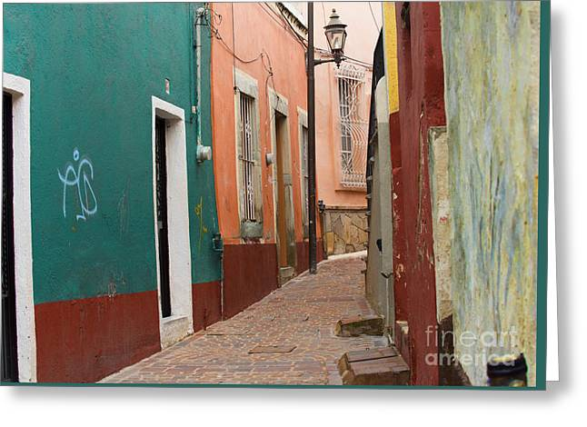 Stucco Greeting Cards - Guanajuato Greeting Card by Juli Scalzi