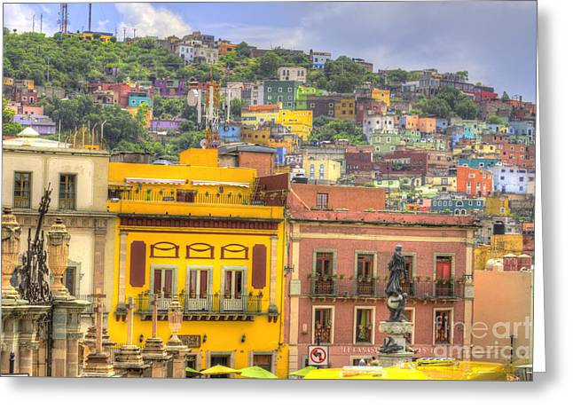 Historic Buildings Images Greeting Cards - Guanajuato Mexico  Greeting Card by Juli Scalzi
