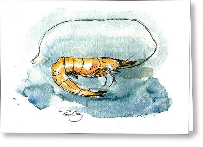 Gulf Shrimp Greeting Card by Paul Gaj