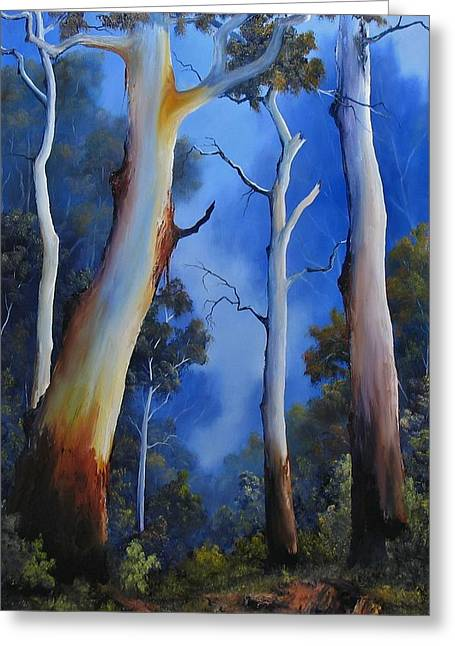 Landscapes Reliefs Greeting Cards - Gumtree View Greeting Card by John Cocoris