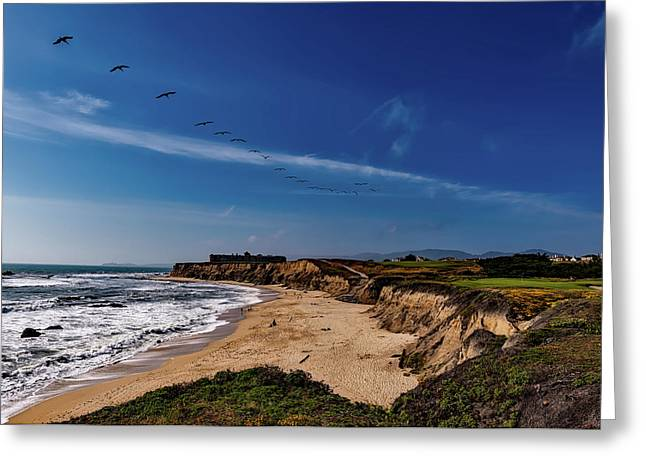 Half Moon Bay Golf Course - California Greeting Card by Mountain Dreams