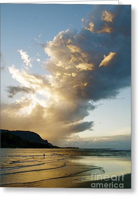 Amazing Sunset Greeting Cards - Hanalei Bay Sunset Greeting Card by Kicka Witte - Printscapes
