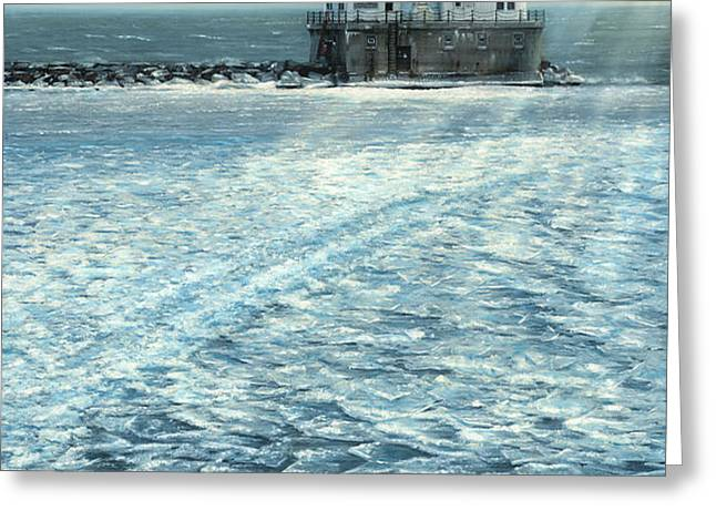 Harbor Light Greeting Card by Doug Kreuger