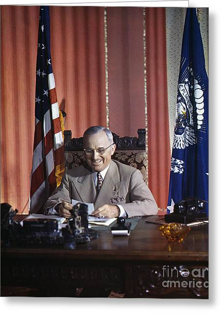 1945 Greeting Cards - Harry S. Truman Greeting Card by Granger