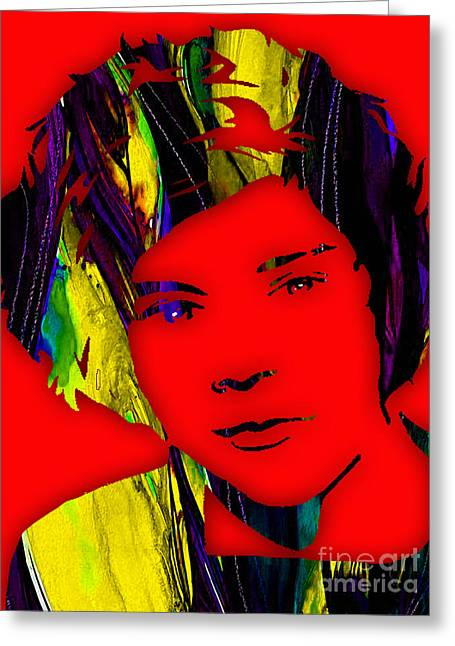 Singer Greeting Cards - Harry Styles Collection Greeting Card by Marvin Blaine