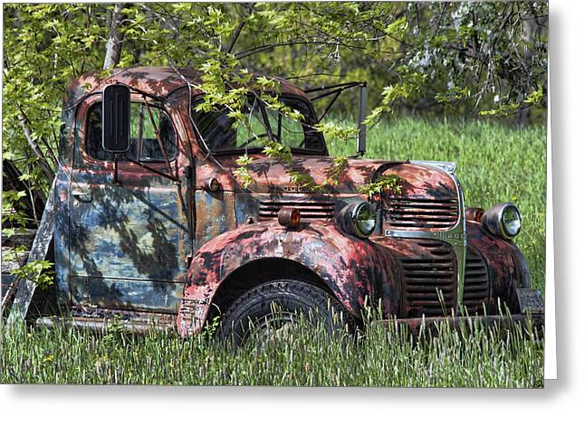Maine Spring Greeting Cards - Has Caught Some Rust Greeting Card by Richard Bean