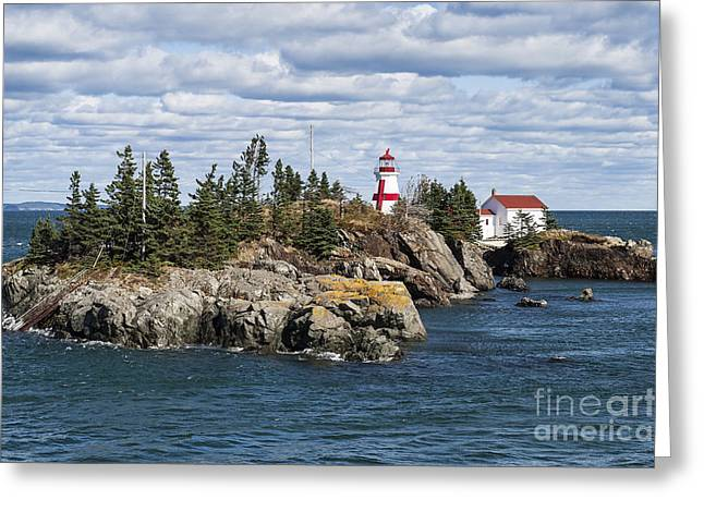 Head Harbour Lighthouse Greeting Cards - Head Harbour Lighthouse Greeting Card by John Greim