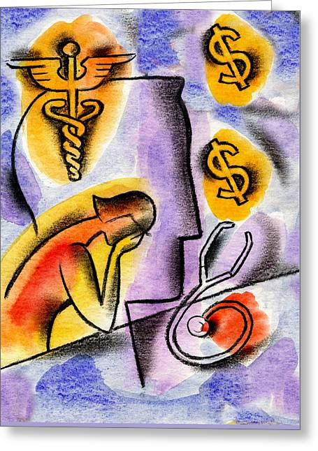 Health Insurance Greeting Card by Leon Zernitsky