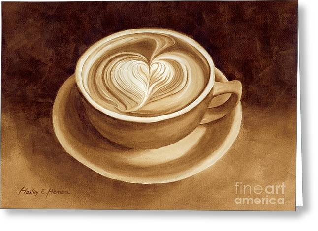 Heart Latte II Greeting Card by Hailey E Herrera