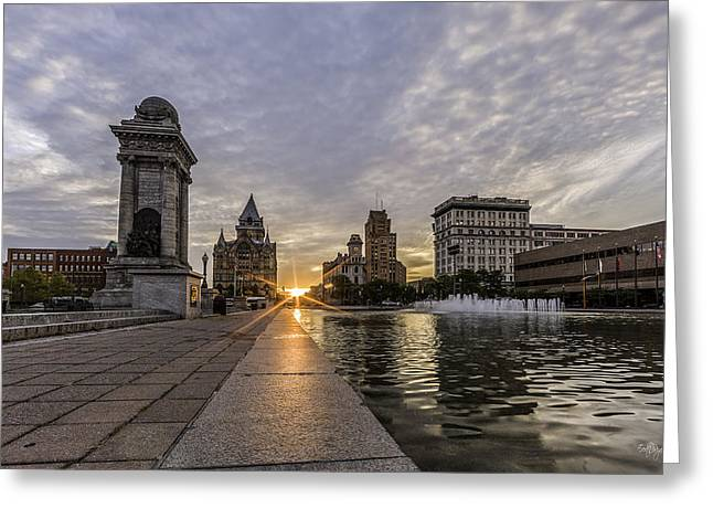 Heart Of The City Greeting Card by Everet Regal