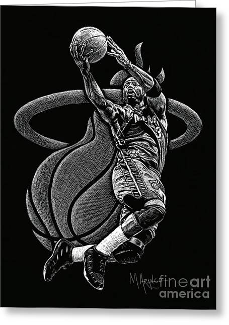 Championship Drawings Greeting Cards - Heat Pride Greeting Card by Maria Arango
