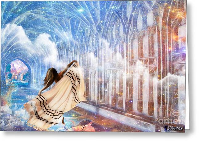Kingdom Of Heaven Greeting Cards - Heavens Gate Greeting Card by Dolores Develde