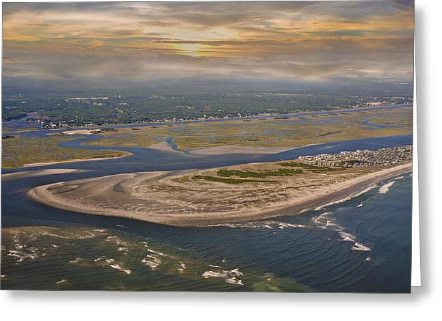 Heaven's View Topsail Island Greeting Card by Betsy Knapp
