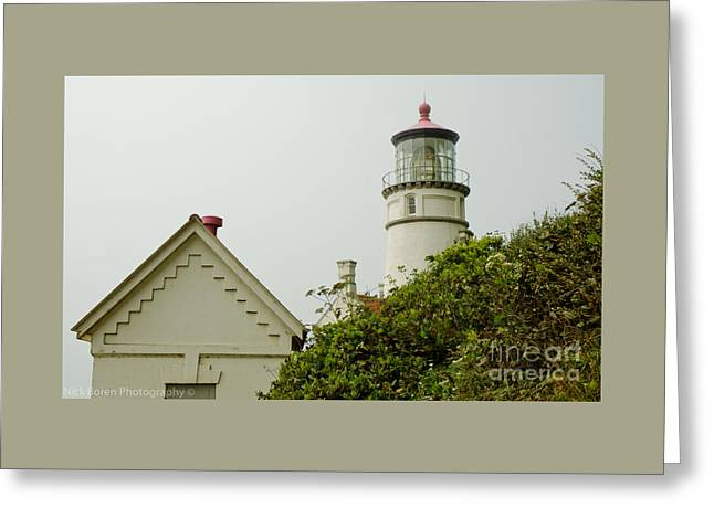 Historical Images Greeting Cards - Heceta Head Lighthouse Greeting Card by Nick  Boren