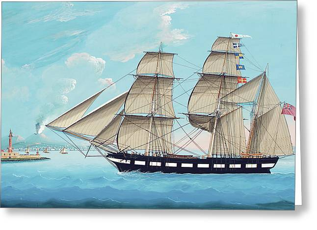 Helen Of Montrose In Neapolitan Waters Greeting Card by Michael Funno