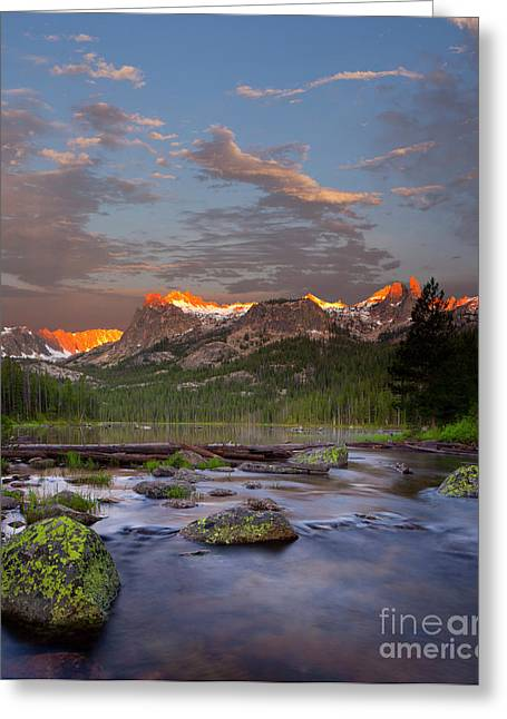Idaho Photographs Greeting Cards - Hell Roaring Lake Greeting Card by Keith Kapple