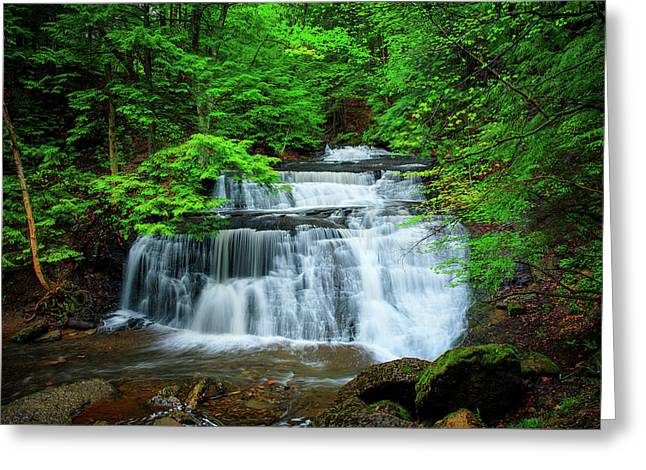 Mcconnells Mill Greeting Cards - Hells Hollow Greeting Card by Emmanuel Panagiotakis