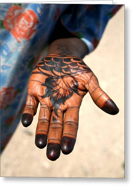 Henna Greeting Cards - Henna Hand Greeting Card by Marcus Best
