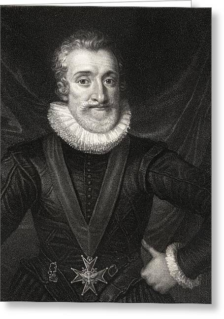 Henry Drawings Greeting Cards - Henry Iv, Aka Henry Of Navarre Or Greeting Card by Ken Welsh