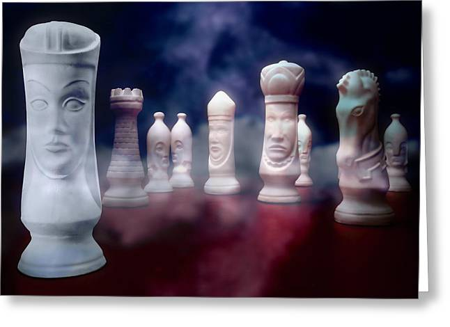 Chess Rook Greeting Cards - Her Majesty Greeting Card by Tom Mc Nemar