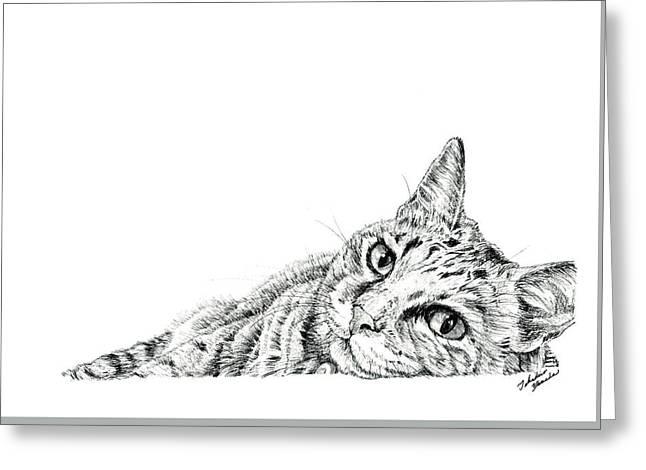 Kobe Drawings Greeting Cards - Hi Greeting Card by Takahiro Yamada