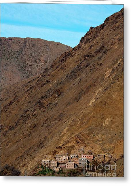 Mountain Valley Greeting Cards - High Atlas Greeting Card by Marion Galt