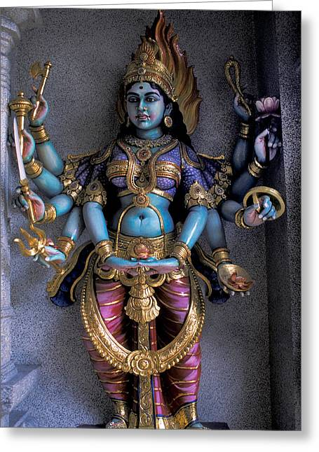 Hindu Goddess Greeting Cards - Hindu Goddess Kali Greeting Card by Carl Purcell