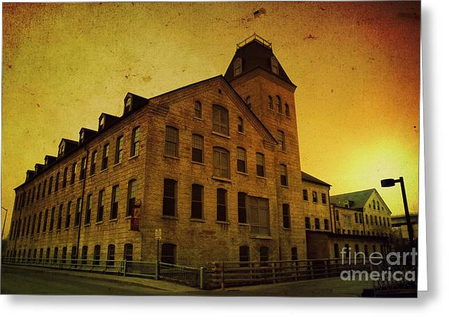 Appleton Art Greeting Cards - Historic Fox River Mills Greeting Card by Joel Witmeyer