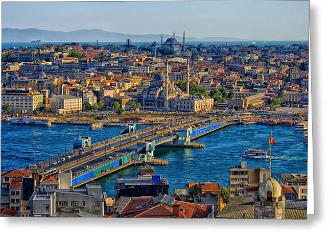 Istanbul Greeting Cards - Historic Istanbul Greeting Card by Ozgur Deniz