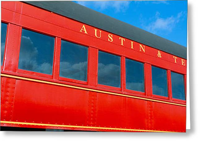 Historic Red Passenger Car, Austin & Greeting Card by Panoramic Images