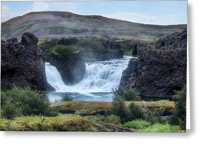 Hjalparfoss - Iceland Greeting Card by Joana Kruse