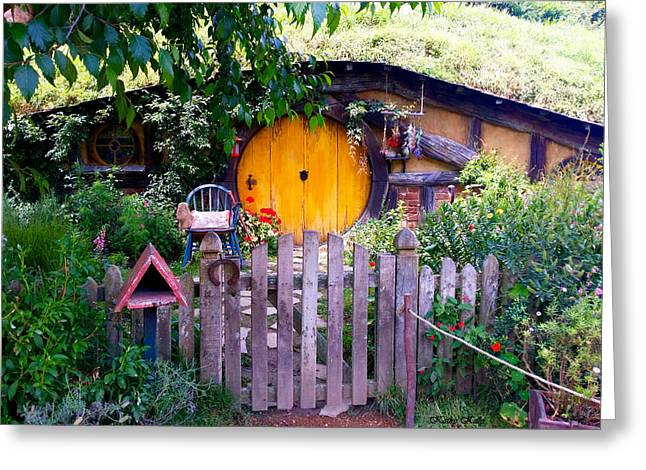 Hobbit's Front Gate Greeting Card by Kathy Kelly