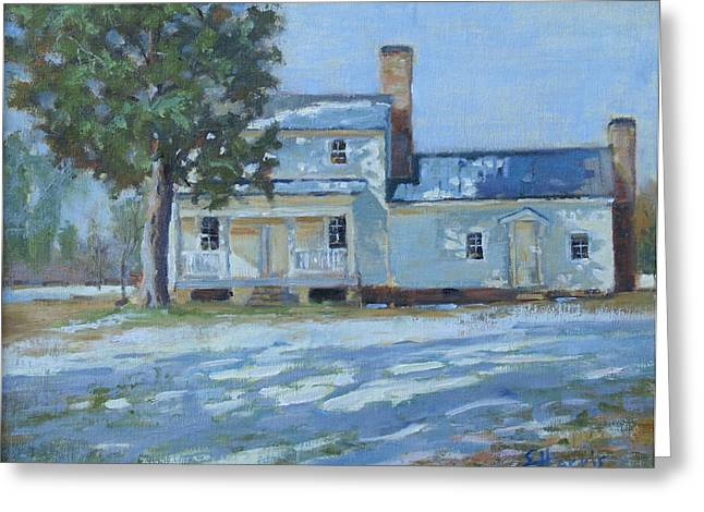 Warner Park Greeting Cards - Hodge House c. 1811 Greeting Card by Sandra Harris