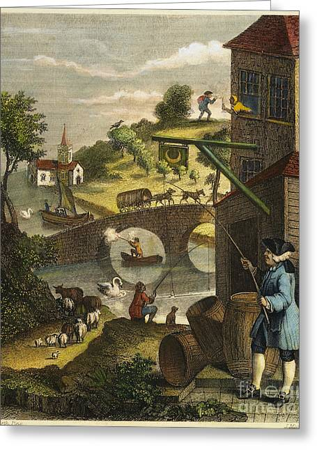 Hogarth Greeting Cards - Hogarth: False Perspective Greeting Card by Granger