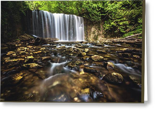 Hoggs Falls Greeting Card by Cale Best