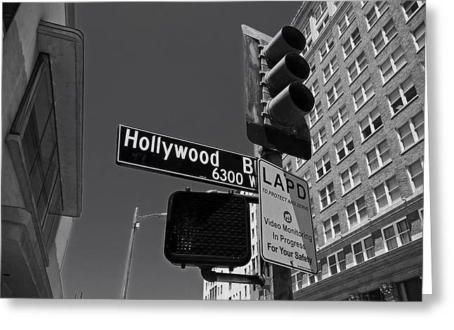 Monitoring Greeting Cards - Hollywood Boulevard Greeting Card by Nimue Slot