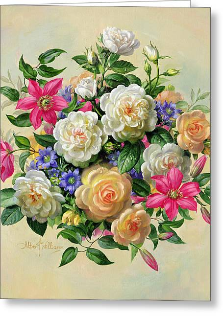 Begonia Greeting Cards - Homage to Her Majesty The Queen Mother Greeting Card by Albert Williams