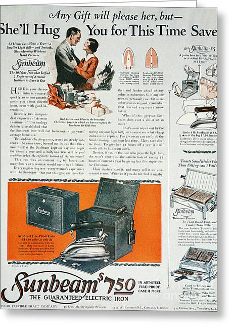 Husband Gift Greeting Cards - Home Appliance Ad, 1926 Greeting Card by Granger