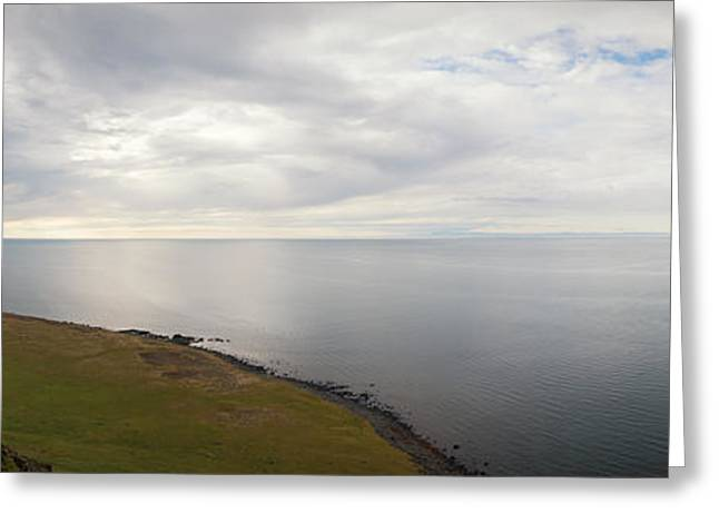 Ocean Panorama Greeting Cards - Hopeless Wanderer  Greeting Card by Michael Ver Sprill
