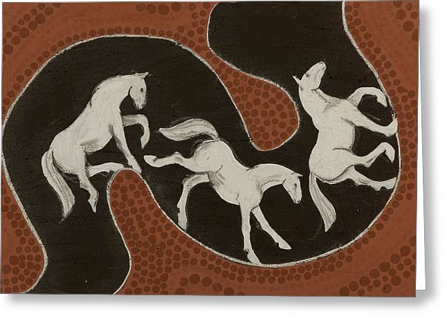 Oxide Greeting Cards - Horse dreams Greeting Card by Sophy White