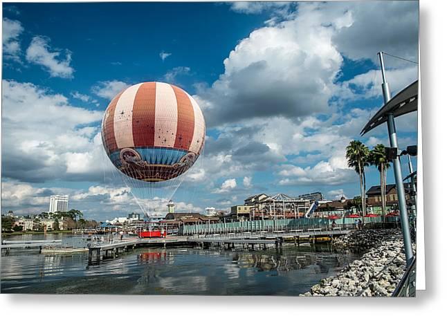 Hot Air Balloon Greeting Card by Louis Ferreira
