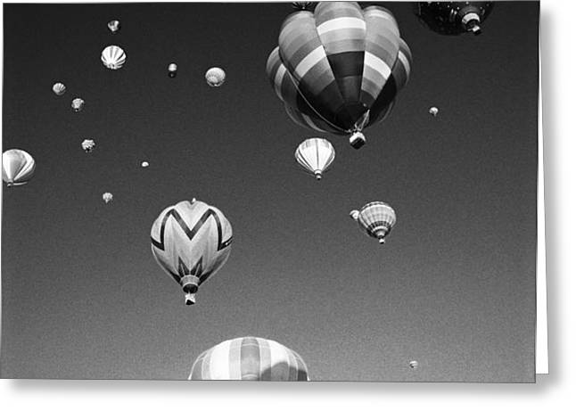 Hot Air Balloons Greeting Card by Michael Howell - Printscapes