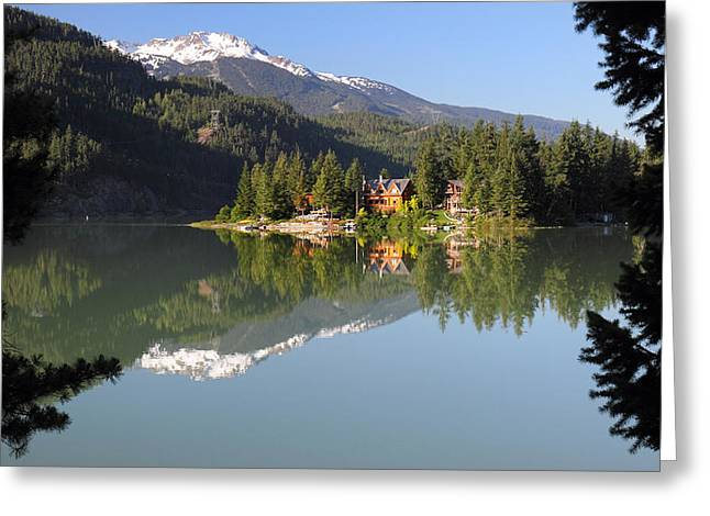 Sun Peaks Resort Greeting Cards - House on Green lake Whistler B.C Canada Greeting Card by Pierre Leclerc Photography