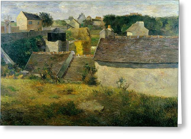 Gauguin Style Greeting Cards - Houses at Vaugirard Greeting Card by Paul Gauguin
