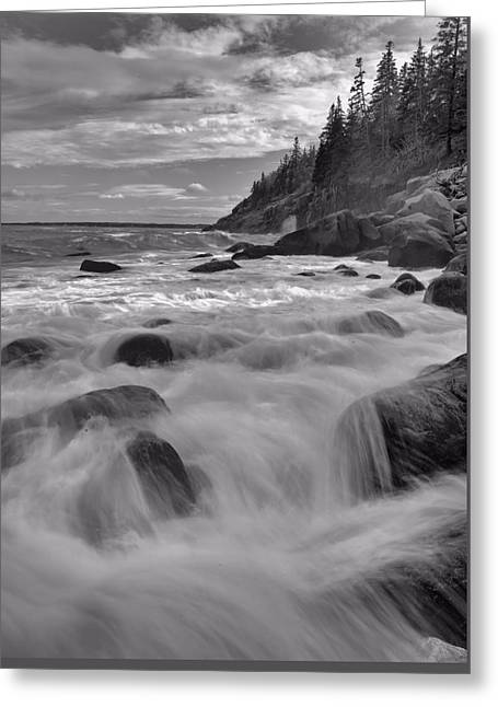 Maine Beach Greeting Cards - Hunters Beach Greeting Card by Stephen  Vecchiotti